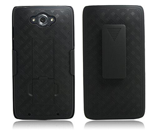 Motorola Droid Turbo Case - Belt Clip Holster Cover Shell Kickstand Criss Cross Black New Plaid Design, Motorola Droid Turbo XT1254