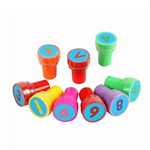 ROSENICE Tampons Chiffres Mathématique Symbole Tampons à Encre Tampons à imprimer 28 Pièces