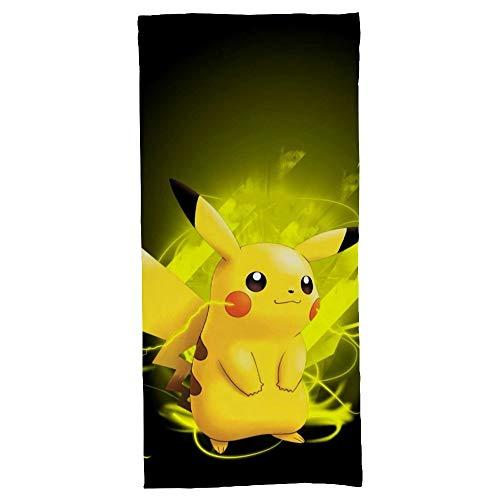 hoist Pokémon Pikachu Rectangular Toallas de playa Toalla de baño de algodón Manta de viaje 70x140 cm