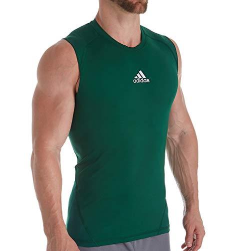 adidas Training Alphaskin Sport Sleeveless tee Manga Corta, Verde Oscuro, XX-Large-Tall para Hombre