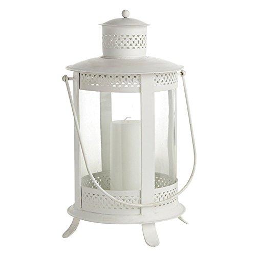 Jolie lanterne 340020 'britta', blanc, petit modèle 28 x 46 cm