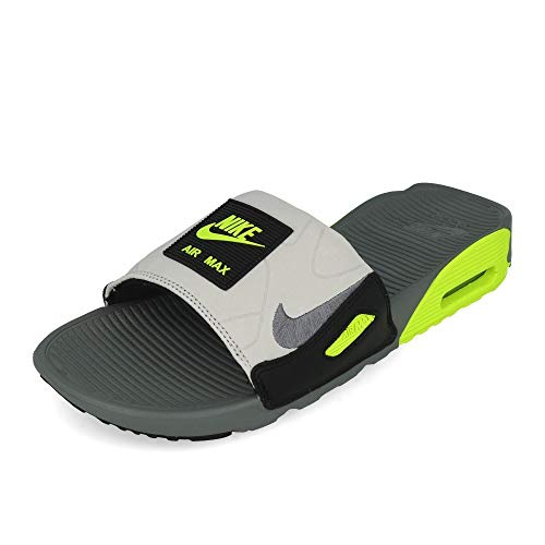 Nike Air Max 90 Uomini Slide Bq4635-001, Grigio (Grigio Fumo/Grigio Fumo-Volt-Nero), 41 EU