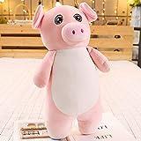 hokkk 50/70/110 cm Gigante in Piedi Cartoon Animali di Peluche Dormire Gamba Cuscino Mouse Maiale Elefante Rana Cane Adulti Bambini 70 cm Maiale Rosa