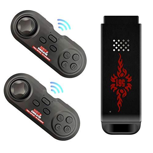 Consola de Videojuegos Inalámbrica USB, Consola de Juegos HDMI Retro Game Stick, Consola de Juegos Retro Bluetooth 2.4G Incorporada 2000/5000 Juegos Clásicos