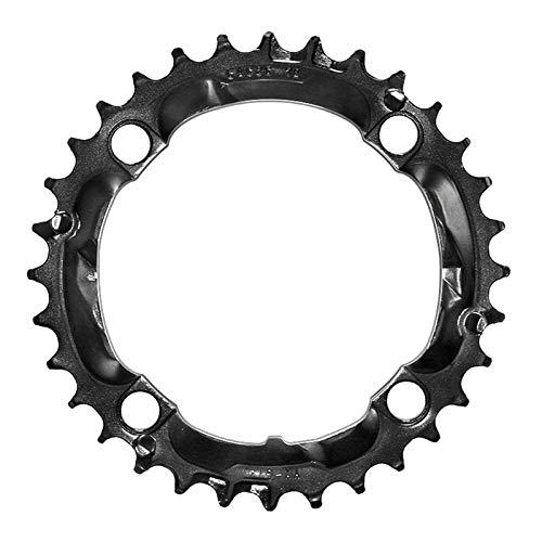 LAIABOR Plato de Bicicleta, Anillo de Cadena 32T BCD 104MM Anillo de Cadena Simple de Plato Ancho Estrecho,Negro,32T