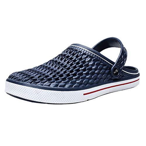 KERULA Hausschuhe Herren Sommer Unisex-Erwachsene Bequeme Atmungsaktive rutschfeste Langlebig Strand Slipper Gästepantoffeln Schuhe mit Rutschfester Gummisohle für Drinnen und Outdoor