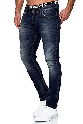 MERISH Jeans Herren Slim Fit Stretch Jeanshose Designer Hose Denim 9148-2100 (31-30, 503-4 Denim)