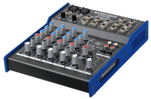 Pronomic M-602FX Live/Studio Mischpult mit digitalem 24bit Multieffektprozessor (2 Mono-Kanäle XLR/Klinke, 2-Stereo Kanäle, 3-Band-EQ, 48V Phantomspeisung)