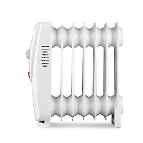 CDFC Mini radiador de Aceite, Aumento de Temperatura Tridimensional, bajo decibelio, 7 Elementos térmicos y 800 W de Potencia