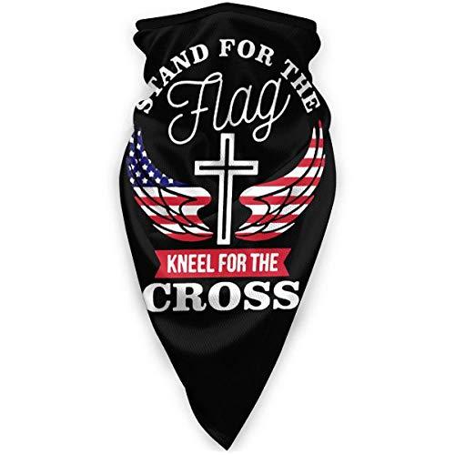 Nother Soporte para la bandera de la rodilla para la cruz, máscara de cara transpirable, resistente al viento, bufanda para el cuello, cálido turbante sombrero bufanda bufanda