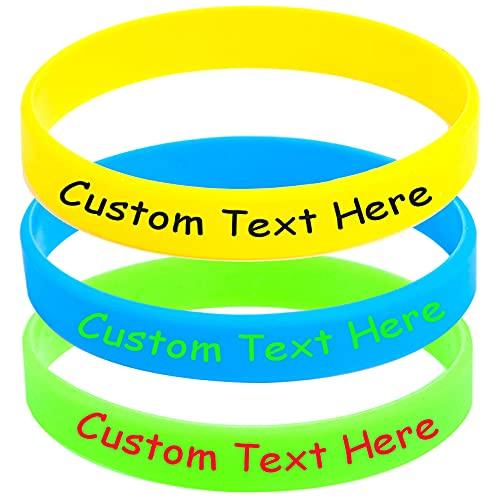 Pulsera personalizada de goma personalizada de la identificación de las pulseras del silicón modificada para requisitos particulares para la motivación, parejas, cumpleaños, favores del partido