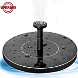 Oriflame Upgrade Solar Fountain,Solar Powered Fountain Pump for Bird Bath with 1.4W Free Standing Floating Birdbath Water Pumps for Garden, Patio, Pond and Pool (Black)