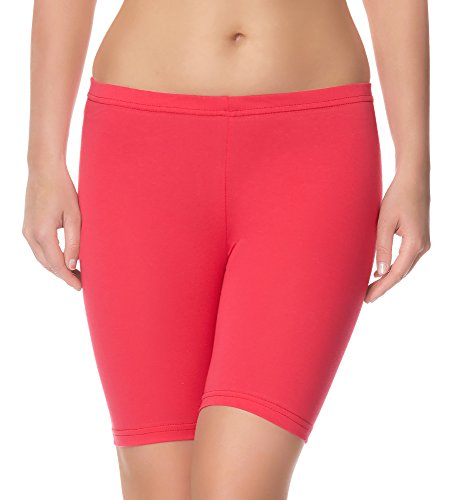 Ladeheid Damen Shorts Radlerhose Unterhose Hotpants Kurze Hose Boxershorts LAMA04 (Rosa21, 4XL/5XL)