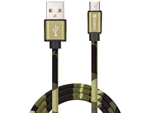 Sandberg MicroUSB Green Camouflage 1m - Cable USB (1 m, USB