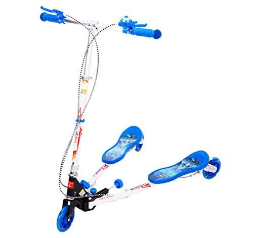 WANGLXST Mode Dreirädriger Tri-Scooter mit Einstellbarer Höhe, blinkenden LED-Rädern, Anti-Rutsch-Deck, Free Smooth Riding für Kinder, Jungen und Mädchen Spielzeug, B