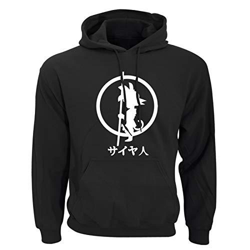 GIRLXV Hoodie Sweatshirt Fall/Winter Men's Long Sleeved Pullover Hip hop 3D Printed Sportswear M Black