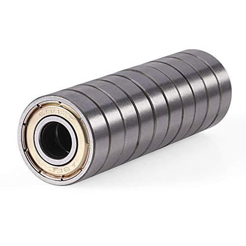 Nologo - 10 piezas doble blindado de acero al carbono de una fila miniatura 608ZZ ABEC-5 rodamientos rígidos de 8 x 22 x 7 x 8 x 22 x 7 mm 608 ZZ