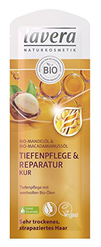 lavera Haar Kur Tiefenpflege & Reparatur ∙ Sehr trockene strapazierte Haare ∙ vegan ✔ Bio Haarkur ✔ Natural & innovative Hair Care ✔ Naturkosmetik ✔ Haarpflege 10er Pack (10 x 20 ml)