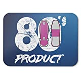 BLAK TEE Vintage Retro 80's Product Skateboard Mouse Pad 18 x 22 cm in 3 Colours Blue