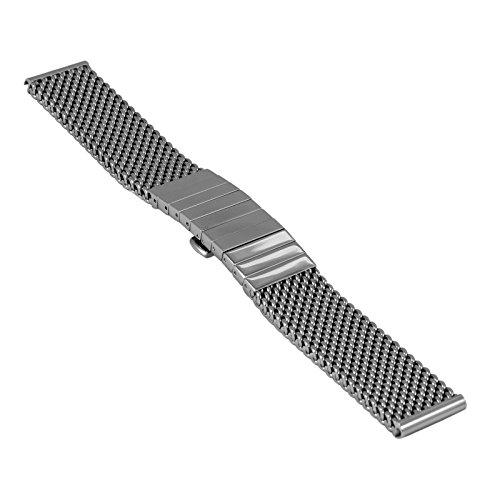 Staib Uhrenarmband Milanaise/Mesh, Breite 22 mm, Länge 170 mm, Höhe 4,5 mm, verschraubte VL-Glieder, extra stark