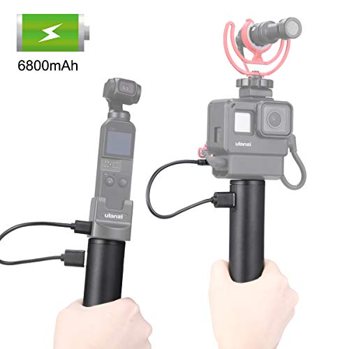 Osmo Pocket Battery Hand Grip Monopod Camera Vlog Handle 6800mAh Rechargeable PowerStick Compatible for iPhone/DJIOsmo Action/Gopro Hero 8/7/6/5/Gopro Max Sony RX0 ii