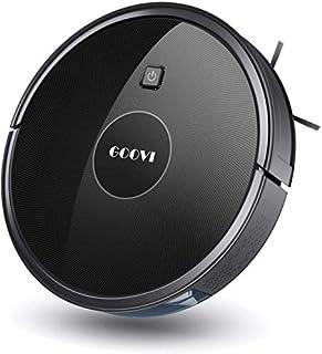 Robot Vacuum, GOOVI 1600PA Robotic Vacuum Cleaner with Self-Charging, 360° Smart Sensor Protectio, Multiple Cleaning Modes Vacuum Best for Pet Hairs, Hard Floor & Medium Carpet