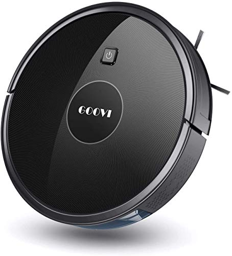 GOOVI Robot Vacuum, 1600PA Robotic Cleaner with Self-Charging, 360° Smart Sensor Protection, Multiple Cleaning Modes, Best for Pet Hairs, Hard Floor and Medium Carpet