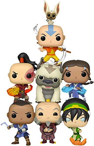 "Funko Avatar Last Airbender 7pc 3.75"" Pop Figure Set - Katara - Aang - Iroh - Sokka - Zuko - Toph & Appa"