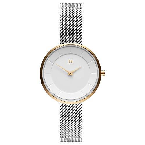 MVMT MOD M4 FB01-SG - Reloj de pulsera para mujer (acero inoxidable)