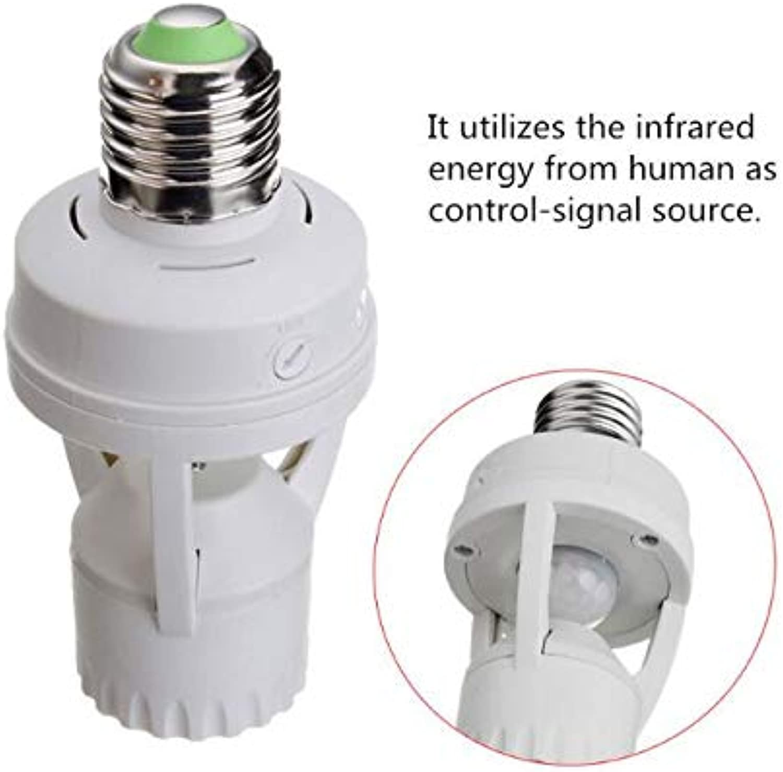 AC 110220V 50pcs FedEx DHL PIR Induction Motion Sensor IR Infrared Human E27 E14 B22 Plug Socket Switch Base Led Bulb Holder