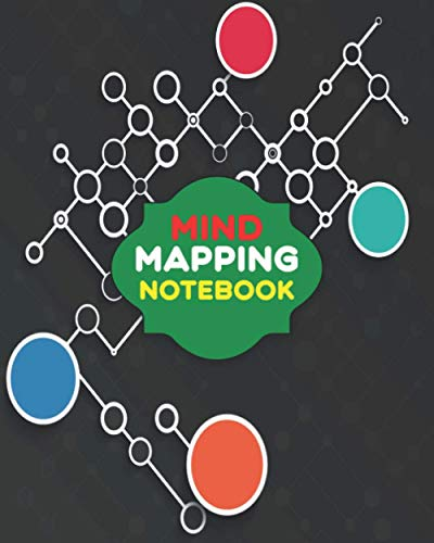 Mind Mapping Notebook: Practice Mindfulness for a Happy Life, Improve Your Memory, Mental Health, Concentration and Creativity.