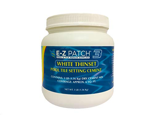 E-Z Products EZP-132 White Thinset Pool Cement - 3 lbs