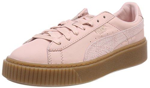 Puma Basket Platform Euphoria Gum Zapatillas Mujer, Rosa (Silver Pink-Rose Gold), 39 EU