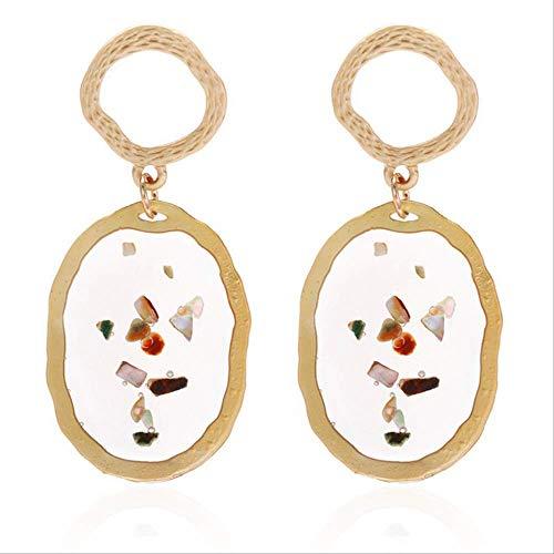 Oorbel bengelen eenvoudige metalen cirkel oorbellen voor vrouwen geometrische ketting opknoping bengelen oorbellen dames partij sieraden cadeauez377
