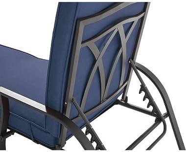 Mainstays Belden Park Cushion Chaise Lounge (Blue)