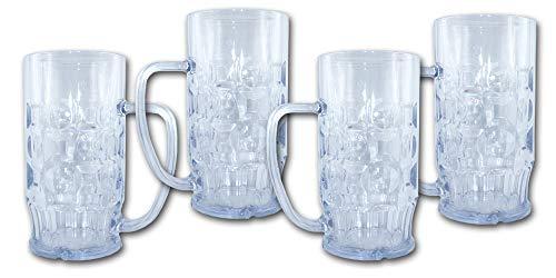 Unbekannt Bierkrug 0,5l SAN Kunststoffglas 4er-Sparset
