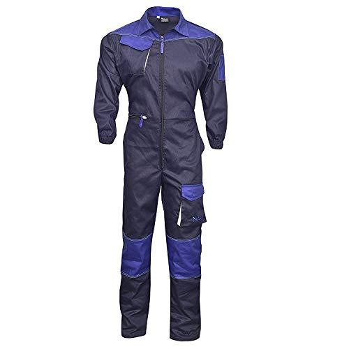 NORMAN Marineblau Herren Arbeitskleidung Latzhose Monteuranzug Overalls Mechaniker Blaumann – Marineblau, XXX-Large - 2