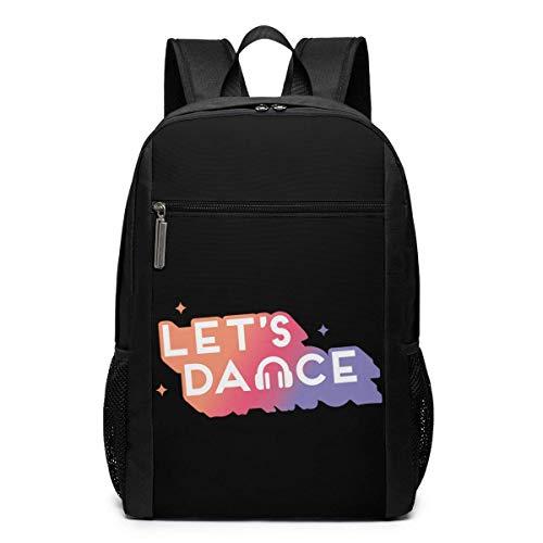 ZYWL Just Dance - Mochila para computadora portátil, Mochilas de Viaje, Mochila Escolar para Hombres y Mujeres de 17 Pulgadas