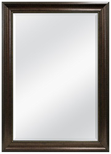 MCS Beaded Rectangular Wall Mirror, 30.2 by 40.2-Inch, -