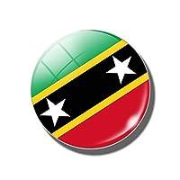 XHYRB 冷蔵庫マグネット30MM磁気冷蔵庫マグネット 小さくて便利 (Color : St Kitts and Nevis)
