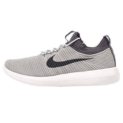 Nike Women's Roshe Two Flyknit V2 Pale Grey/Dark Ankle-High Running Shoe - 9.5M