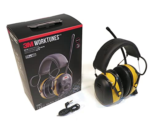 3M Worktunes Digital Am Fm Mp3 Radio Headphones Hearing Protection Ear Muffs