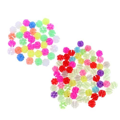 LIOOBO 72 Stücke Speichenperlen Speichenclips Speichenklicker im Dunkeln Leuchtend Kinderfahrrad Zubehör für Kinder Fahrrad Roller Speichen Dekoration