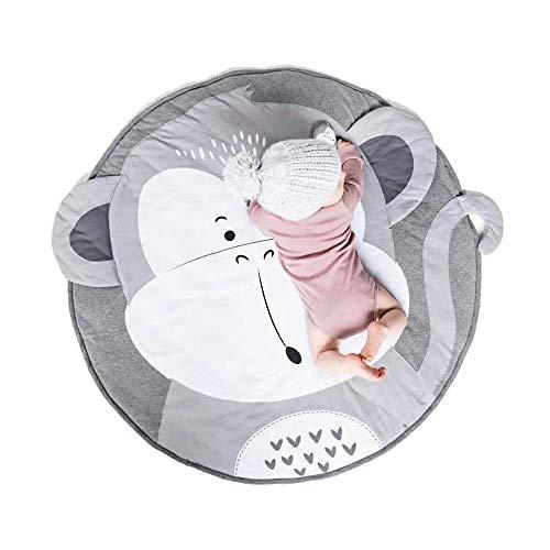 SMUOO Baby Print Krabbelmatte, 100% Naturstoff Babymatte zum Spielen Krabbeln Schlafen Wechseln Weich Warm Warm Dick Gepolstert