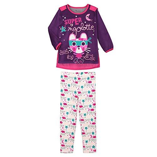 Petit Béguin - Pyjama fille manches longues Super Rigolotte + cape amovible - Taille - 10 ans