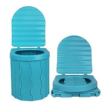 Toilette Camping, Toilettes Portables Seau Hygiénique WC Camping Toilette Seche Pliable Mobile pour Le Camping, La Randonnée, Les Excursions