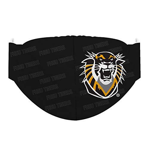 Fort Hays State University Tigers Face Mask Black All Over Logo FHSU