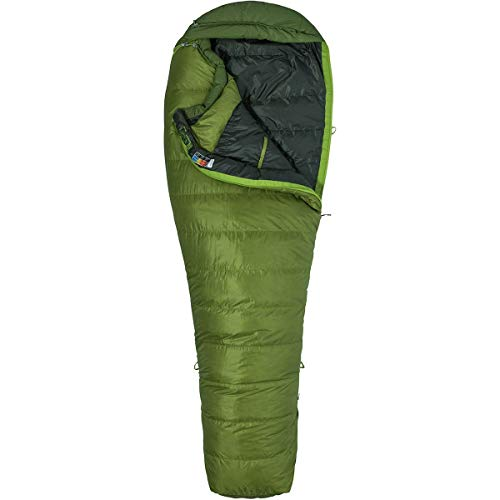 Marmot Erwachsene Schlafsack Never Winter Long, Cilantro/Tree Green, LZ, 29840-4969-L
