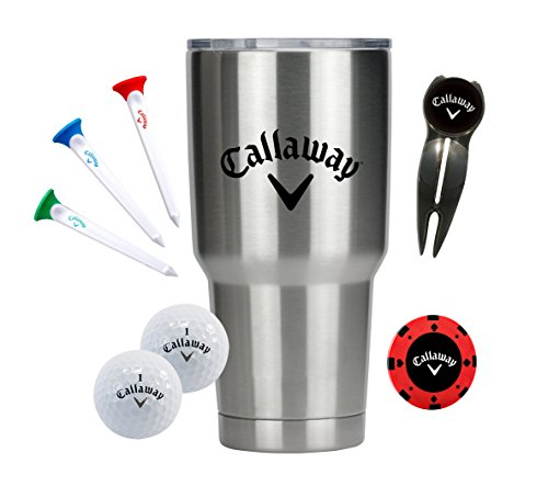 Callaway 30-Oz. Stainless Steel Tumbler & Golf Accessories Gift Set