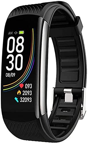 Reloj impermeable con monitor de sueño de oxígeno, monitor de sueño, contador de calorías, podómetro, pulsera inteligente para mujeres, hombres y niños (negro)